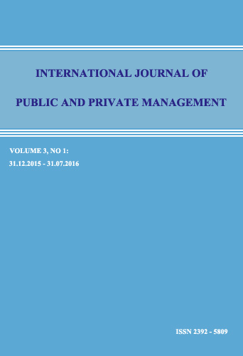View Vol. 3 No. 1 (2016): International Journal of Public and Private Management
